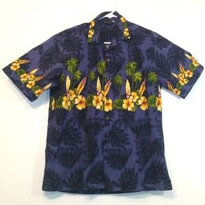 Aloha Fashion Hawaiian Shirt Floral Surf Palm Tree